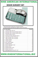 Minor Surgery Set Instruments for Minor Surgery Set Minor Surgery Instruments Set of Minor Surgery Minor Surgery Kit Surgical