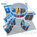 Portable exhibition booth stand design for trade show