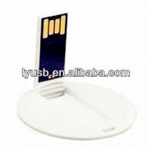 Doubleside printed Super thin name card flash drive USB 2gb,round usb flash disk card 2gb 4gb,Factory USB flash memory card 4gb