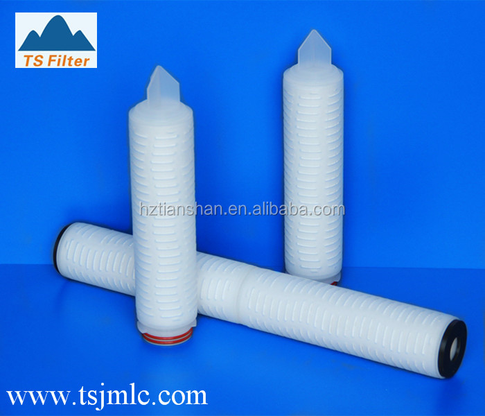 0.5 um Absolute Rated Pleated Polypropylene Filter Cartridges For CD and DVD media