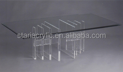 Lucite Rectangle Acrylic Furniture, Acrylic Conference Table
