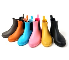 Tongpu Latest Design ankle boots women shoes PVC Fashion Colorful Horse Riding Boots