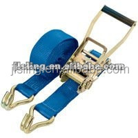 Ratchet tie down/ratchet strap/cargo lashing strap heavy duty elastic strap with hook