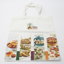 Custom Recyclable Tote Printed Canvas Shopping Bag