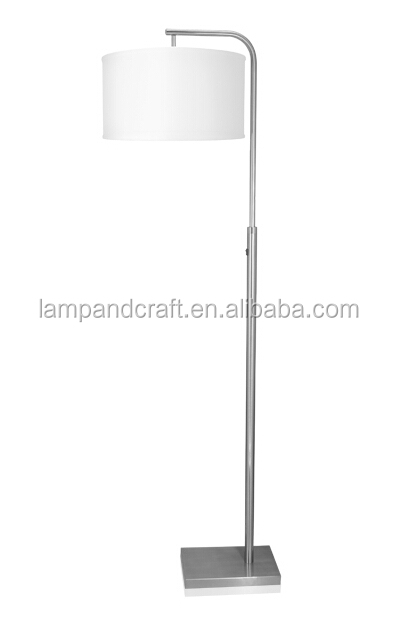 white cylindrical shade metal floor lamp for USA market