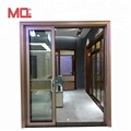 Heavy duty sliding door manufacturer powder coated aluminum