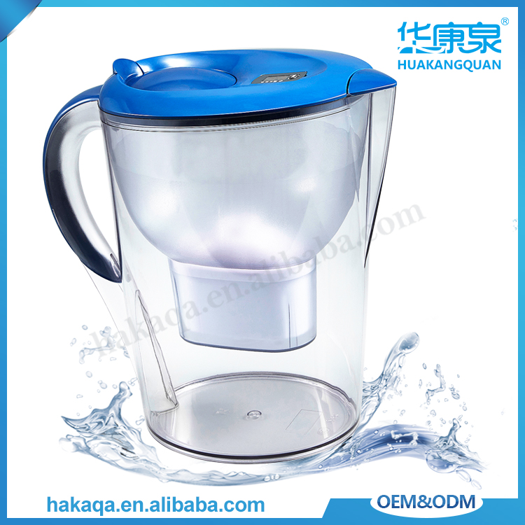 Household everyday portable water purifier jug 3.5L ceramics alkaline uf water filter pitcher