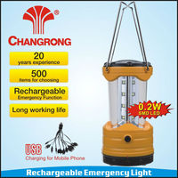 Emergency rechargeable solar portable lantern with USB battery CR-8037TP