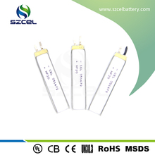360mAh rechargeable lithium polymer battery for bluetooth