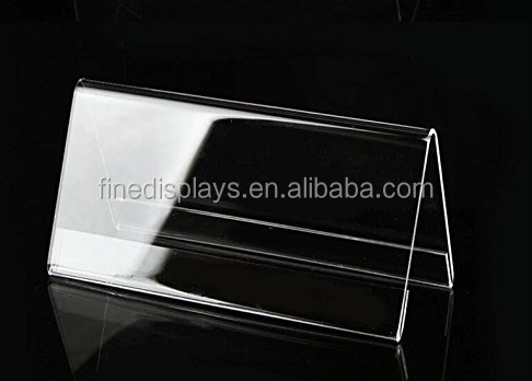 Acrylic Plastic Office Desktop Sign Display Holder Shelf Price Name Business Card Label Stand 10*20cm [ 5pcs ]