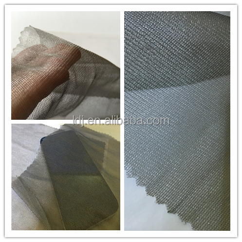 100% silver emf shielding radiator cover mesh for bed canopy/curtain