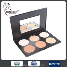 professional makeup waterproof silky smooth compact powder six colors face contour compact kit