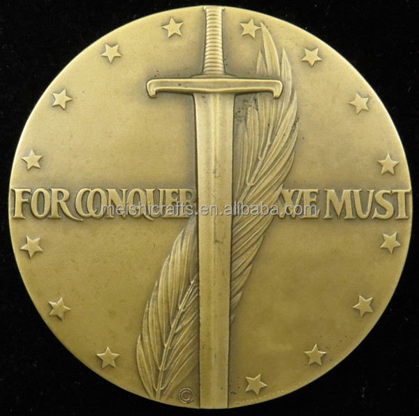 Society of Medalists No. 31 Iwo Jima For Conquer We Must Chambellan Bronze 73 mm Coin