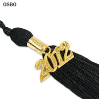 Wholesale zinc alloy custom year charms 2017 2018 single color graduation cap tassel for sale