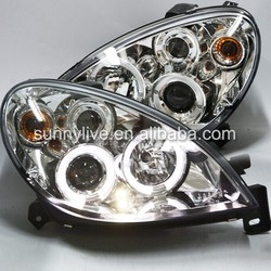 CITROEN Xsara LED Angel Eyes Headlights Projector Lens 1999-2003 Year Chrome Housing SN