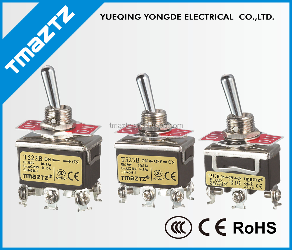 momentary dpdt toggle switch / 3 pole 3-way toggle switch / auto reset on off on toggle switch