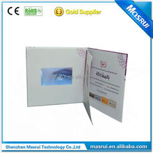 LCD Screen Wedding Birthday Invitation Electronic Video Greeting Cards