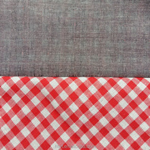 100% Cotton Yarn Dyed Poplin Plaid Double Layer Fabric