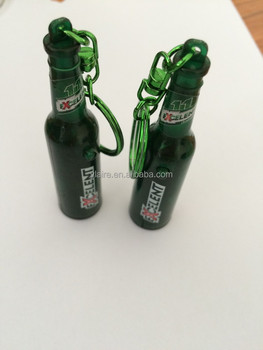 Promotional Custom Shape Beer Projector Keychain
