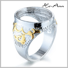 Beautiful indonesia gold finger rings design for women stainless steel ring