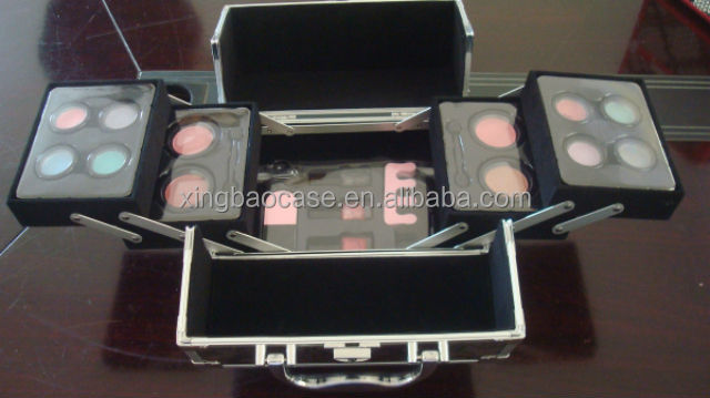 Cases cosmetics,beauty train case,clear cosmetic case handle