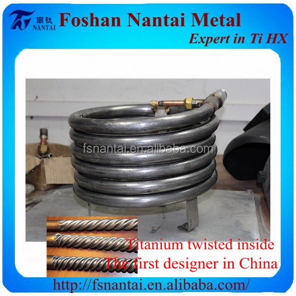 Food Producers Required Condenser Titanium Spiral Pipe