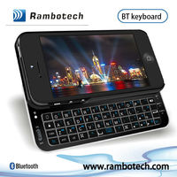 Backlit and Sliding Wireless Bluetooth Keyboard Hard Shell Back Case Cover for iphone5