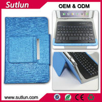 Universal Wireless bluetooth keyboard PC leather Case for ipad 2 ipad mini 2 3 ipad air air 2