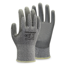 PE355 13G High Tenacity Nylon Glass fiber PU Palm dipped glove