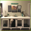 Indoor pet / dog crate end table cover