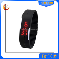 Best selling promotion cheap digital silicone bracelet led watch