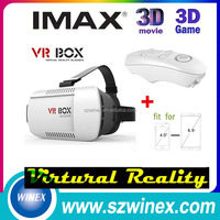 2016 wholesale for 3d glasses virtual reality VR glass with remote controller