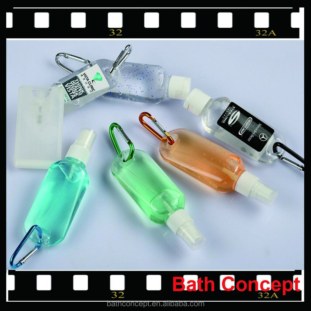 50ML FDA approved hand sanitizer gel with carabiner