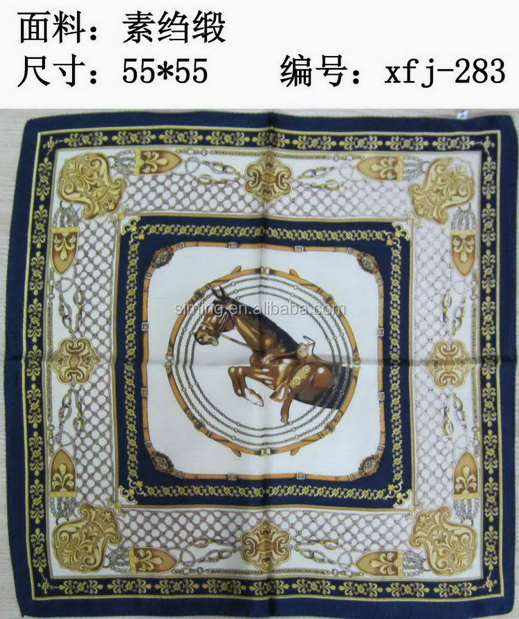 Modern hot sell lady's silk scarf and shawl