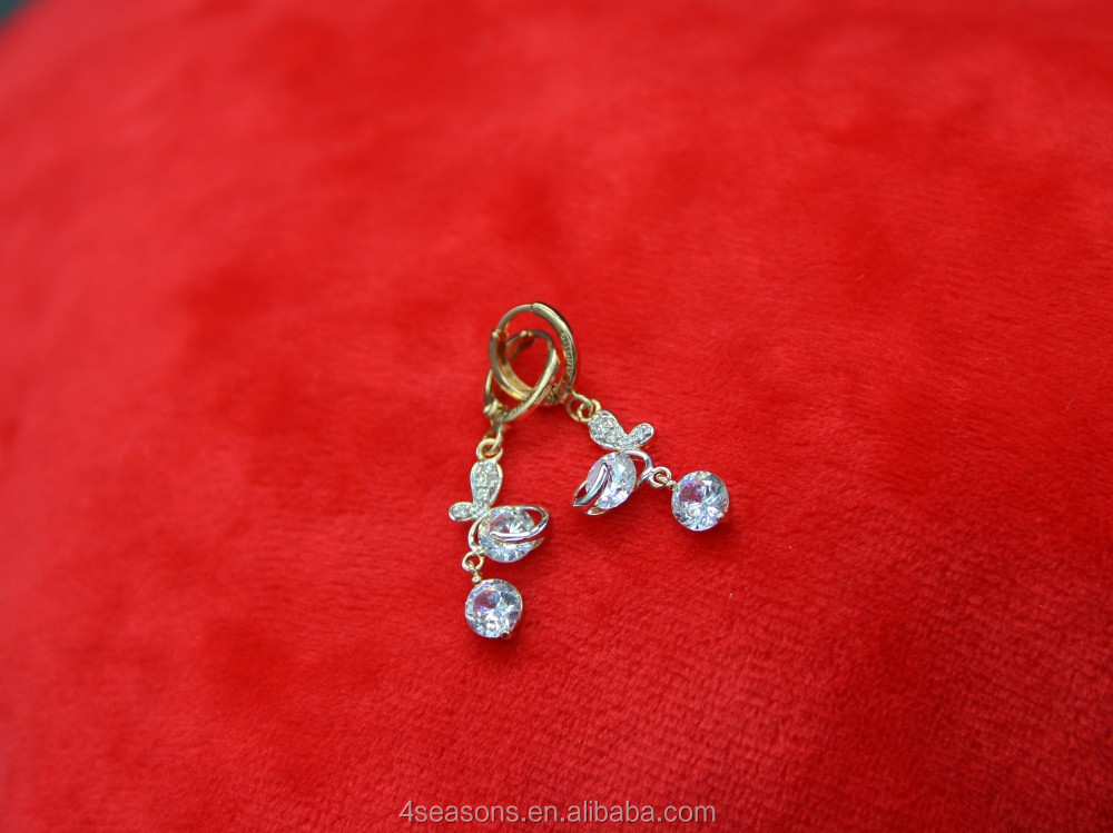 hot sale !Most popular hot sell multicolor zircon earrings ,stud earrings