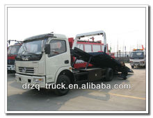 Dongfeng flat bed right hand wrecker tow trucks for sale, tow trucks used