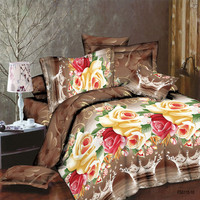Polyester 100% printed fabric for bedding sets, home textile, quited fabric wholesale