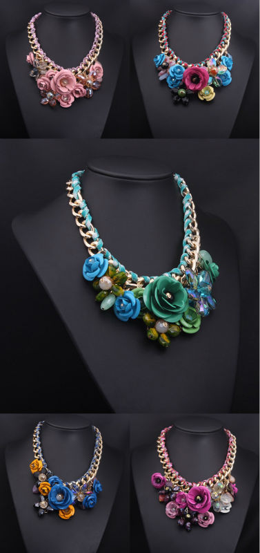 2015 Imitation Brand Fashion Necklace statement Necklace LOW MOQ 12 pieces/design Update everyweek