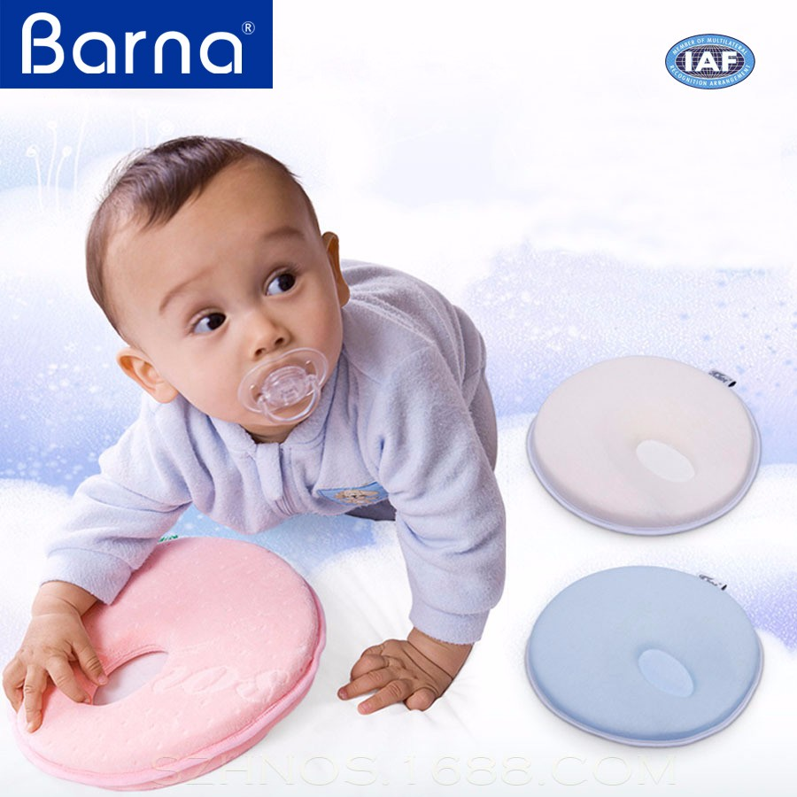 newest deluxe breathable spine protection relaxing soft memory foam newborn baby infant cushion
