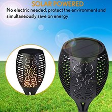 China franchiser Hottest 96 LED Solar Torch Light Outdoor camping portable small Torches Dancing Flame Lamp