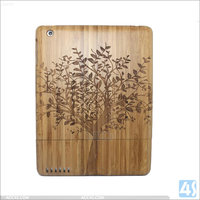 Factory OEM Bamboo Hard Case cover for iPad 2/3/4 ,shockproof wood tablet case for 7/9.7 inch