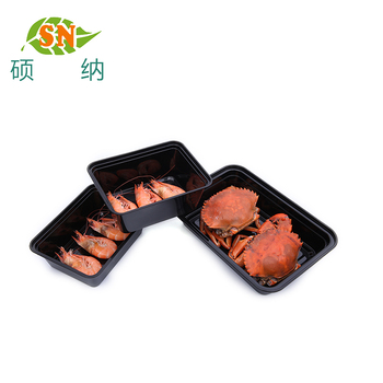 Square disposable plastic rectangle bento take away lunch box food container