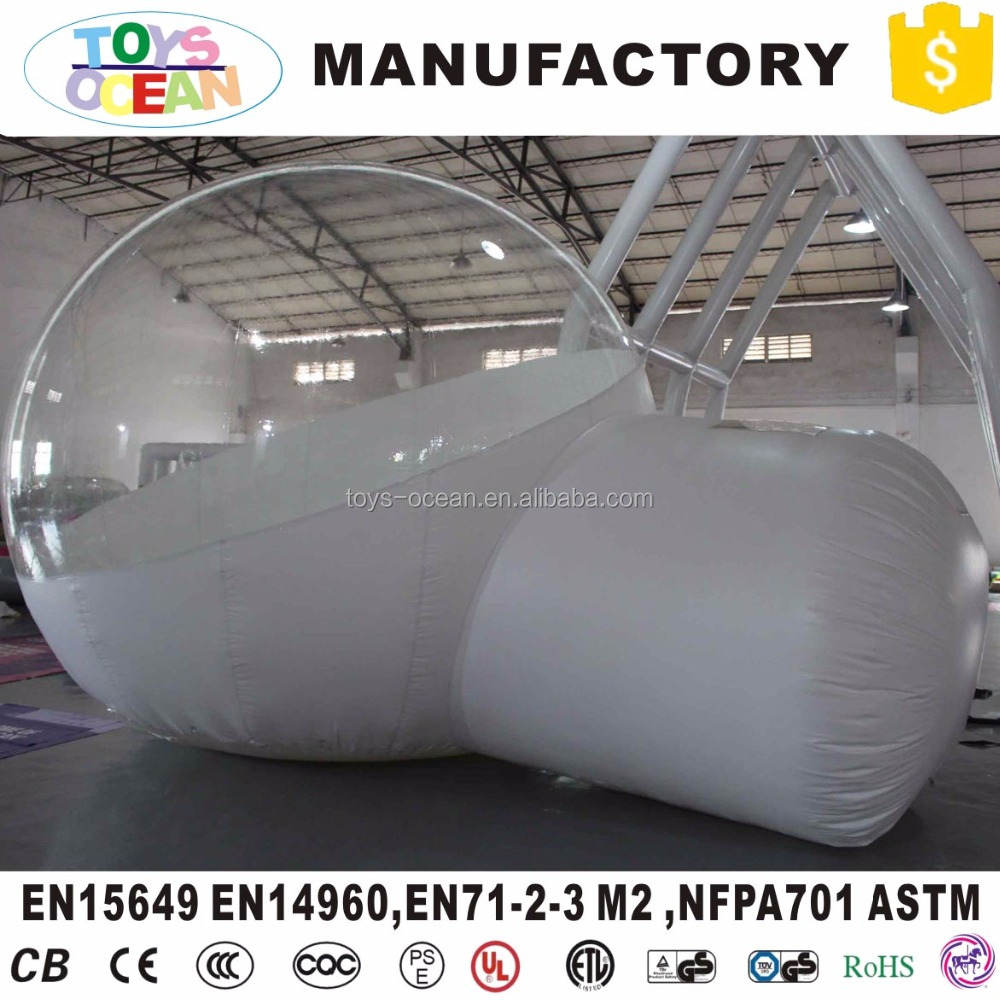 Outdoor single tunnel inflatable bubble tent camping transparent bubble tent