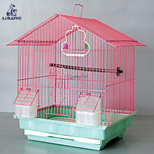 Exquisite Iron Wire Bird Feeder And House Stainless Steel Parrot Cage