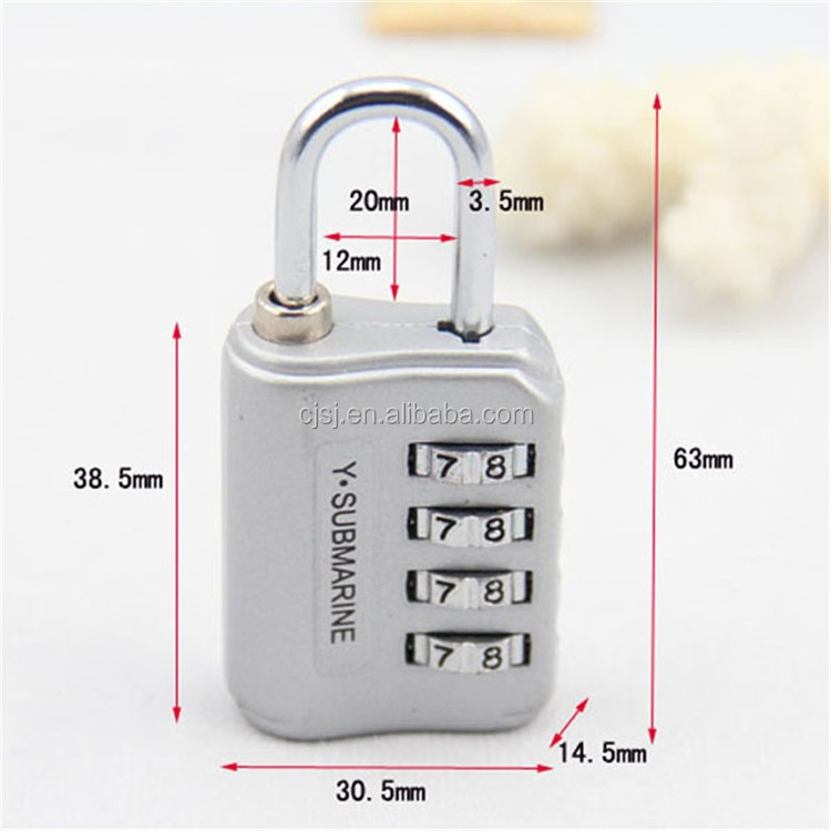 CH-14H resettable 4 digits security bag password lock