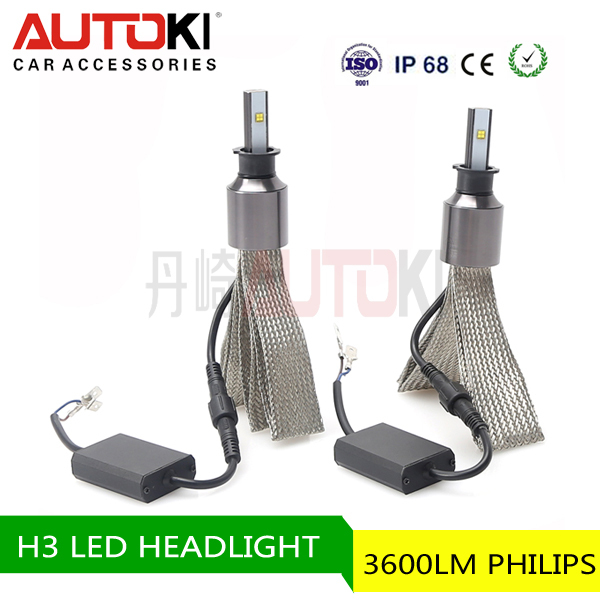 H3 bus headlamp dual light source headlamp uv led headlamp