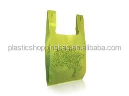 Plastic T-Shirt Bag Inventory Imprinted Plastic Shopping Bag