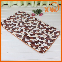 2014 new fashion Coral velvet foam microfiber kitchen rug