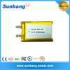 New selling product 2016 lithium polymer battery 3.7v 2000mah