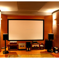 100inch HD fixed frame projection screen with Black villi